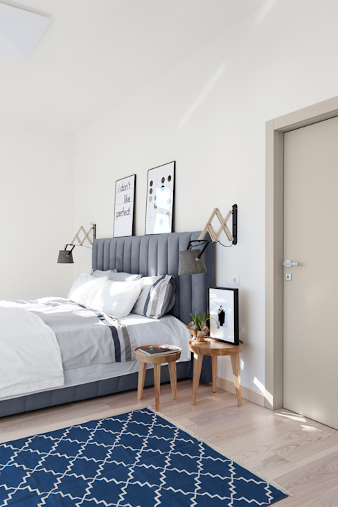 Квартира с северным акцентом Спальня в скандинавском стиле от LPetresku Скандинавский
