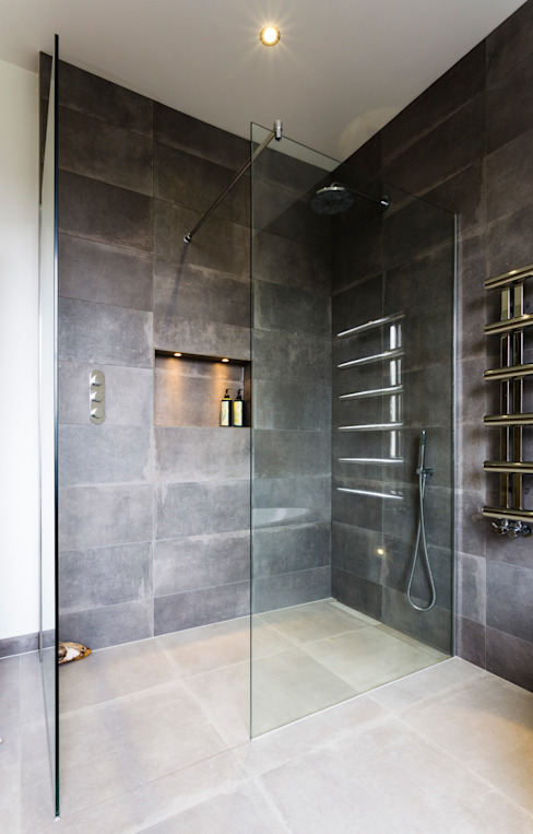 London wet room Modern Banyo Affleck Property Services Modern