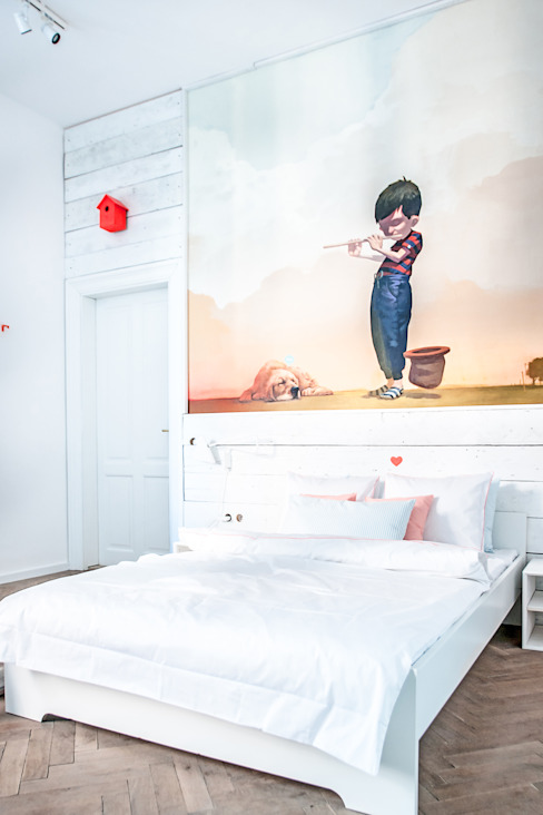 Komplet Pościeli Morgon: styl , w kategorii Sypialnia zaprojektowany przez Lilla Sky ,Skandynawski
