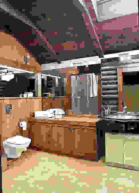 Баня в подмосковье Ванная комната в рустикальном стиле от ARP Studio Рустикальный