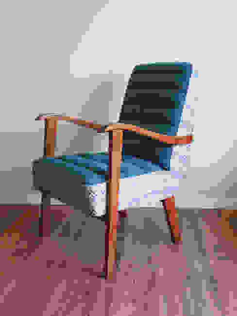 Fotel Niebieski Zig-Zag od Pracownia Foteli Nowoczesny