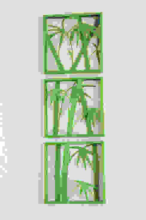 3D Bild, Bambus, 3-teilig homify Wände & BodenBilder und Rahmen