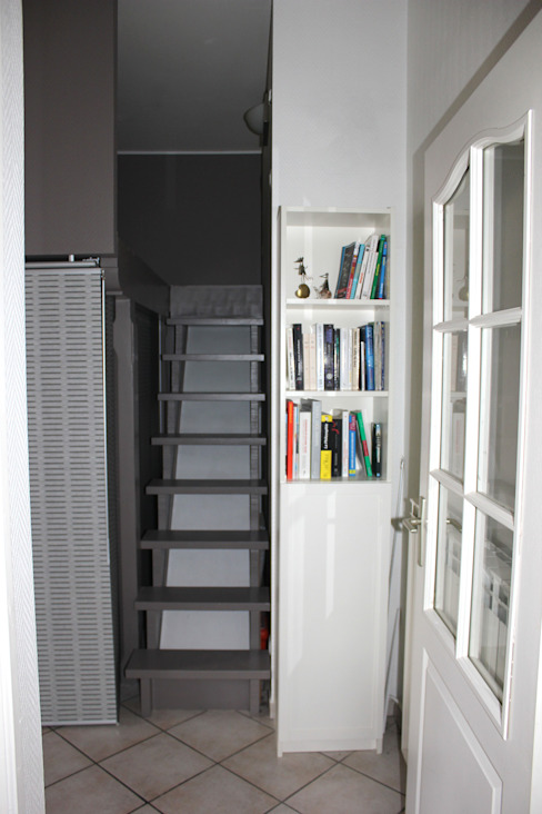 L'accès à la mezzanine Chambre moderne par Atelier OCTA Moderne