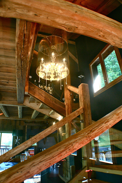 Country style corridor, hallway& stairs by shep&kyles design Country