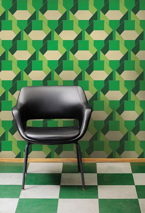 Hexa-Gone wallpaper: modern  by quirk and rescue, Modern