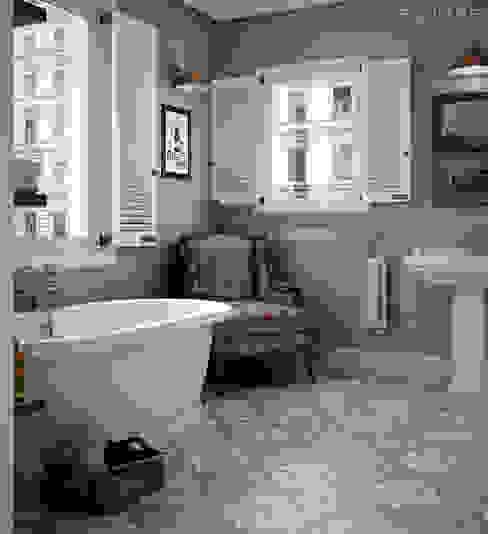 Casas de banho rústicas por Equipe Ceramicas Rústico