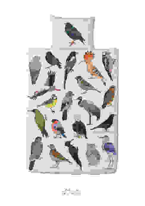 Pościel Ptaki: styl , w kategorii Sypialnia zaprojektowany przez Las i niebo,