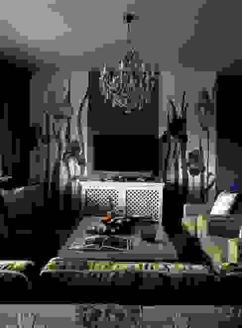 Квартира в Москве в Крылатском Гостиная в стиле модерн от Дизайн бюро Татьяны Алениной Модерн