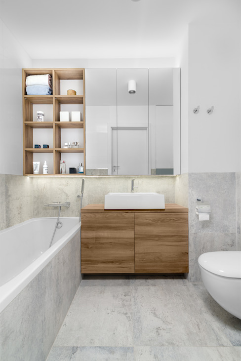 Bathroom by 081 architekci, Minimalist