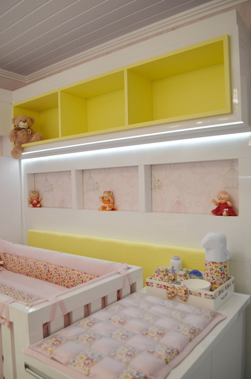 Dormitório de bebê compacto Quarto infantil moderno por Ésse Arquitetura e Interiores Moderno