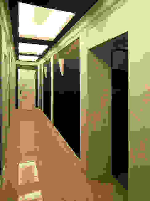 Eleganckie Wnętrze LMarchitekt Klasyczny korytarz, przedpokój i schody