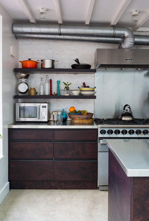 Kitchen: industrial  by Mustard Architects, Industrial
