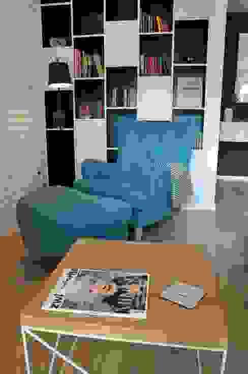 Nadwiślańska \ realizacja: styl , w kategorii Salon zaprojektowany przez NIESKROMNE PROGI,Skandynawski
