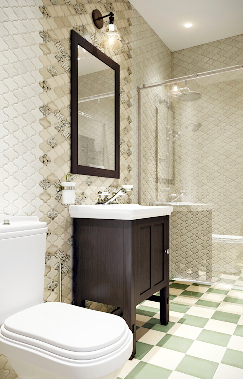 EJ Studioが手掛けた浴室, 北欧
