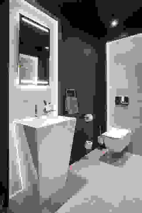 Toaleta Nowoczesna łazienka od Viva Design - projektowanie wnętrz Nowoczesny