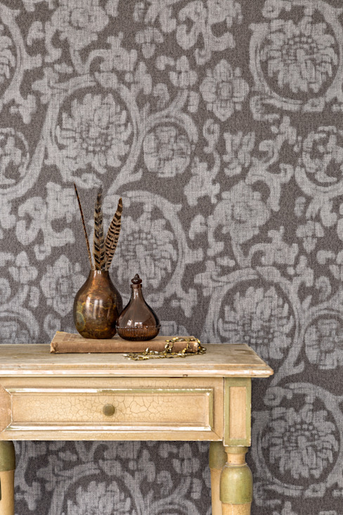Wallpaper Denim:  Woonkamer door BN International,