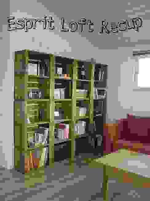 bibliotheque sur mesure par Esprit loft recup Éclectique