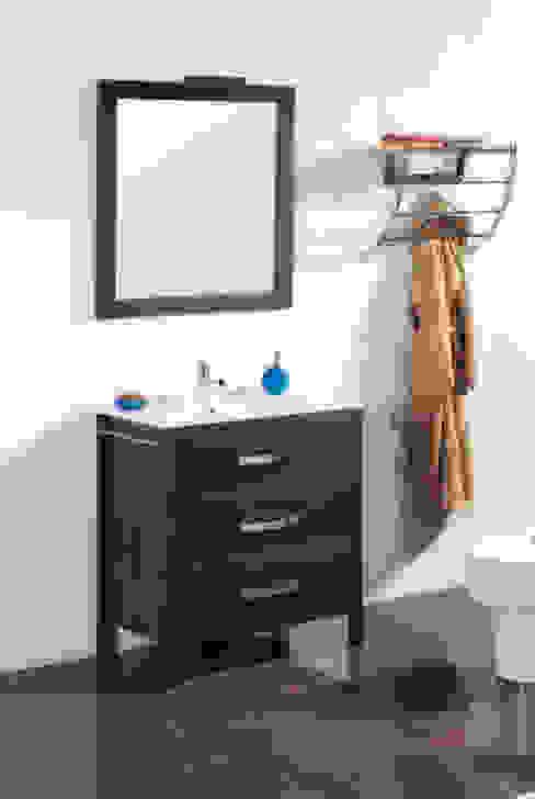 Mueble de baño Nerja de 80 wengue de Bañoweb Rústico