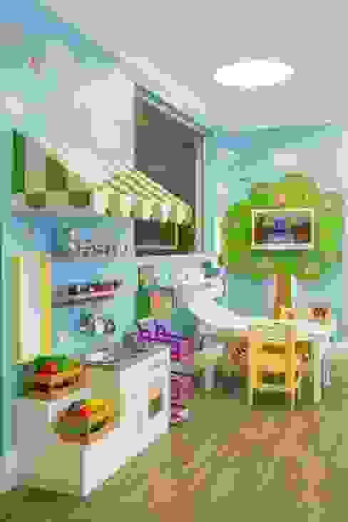 Brinquedoteca dos Sonhos - Sala de Estar Infantil Quarto infantil moderno por Carolina Burin & Arquitetos Associados Moderno