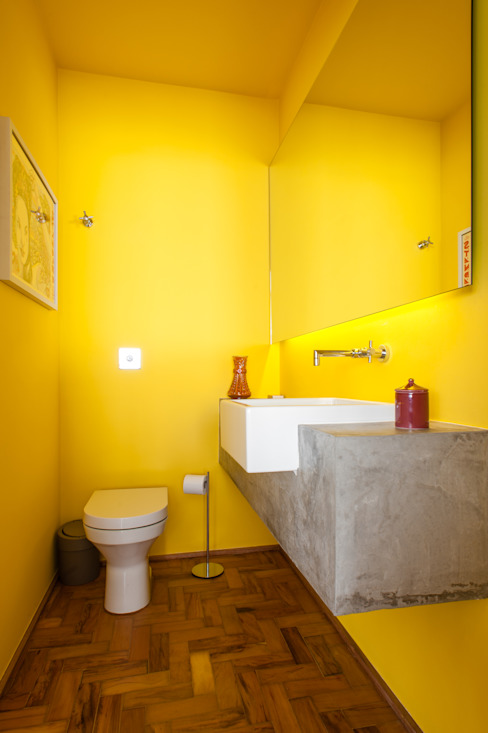 Industrial style bathroom by PM Arquitetura Industrial