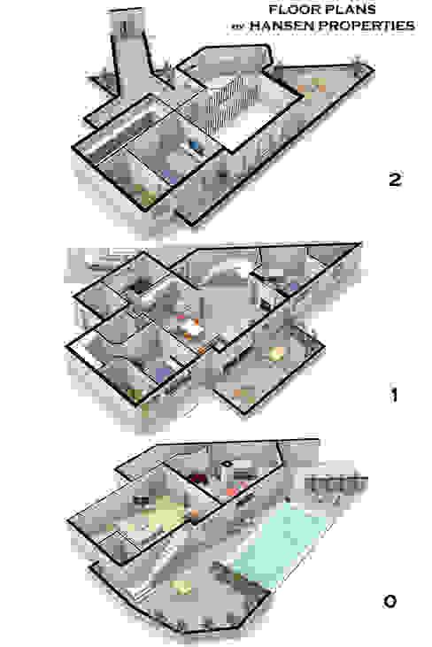 planos Casas estilo moderno: ideas, arquitectura e imágenes de Per Hansen Moderno