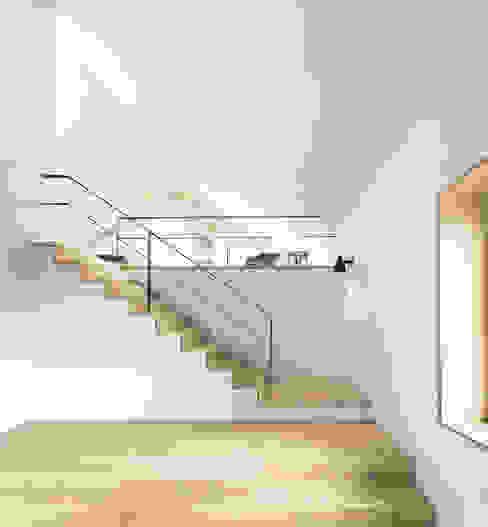 LASSEHAUS Moderner Flur, Diele & Treppenhaus von Spandri Wiedemann Architekten Modern Holz Holznachbildung