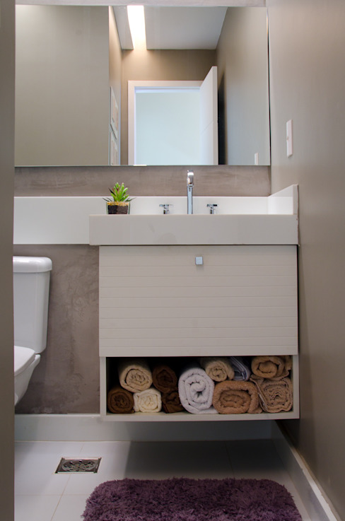 Eclectic style bathroom by Paula Werneck Arquitetura Eclectic