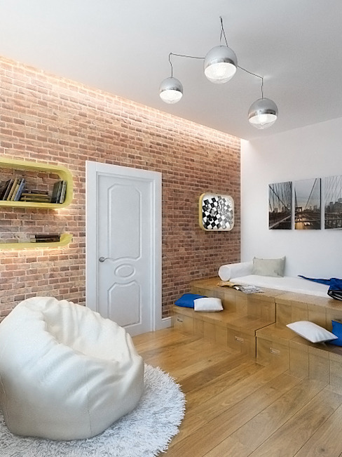 Industrial style bedroom by Дизайн студия Александра Скирды ВЕРСАЛЬПРОЕКТ Industrial