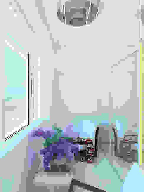 Industrial style balcony, veranda & terrace by Дизайн студия Александра Скирды ВЕРСАЛЬПРОЕКТ Industrial