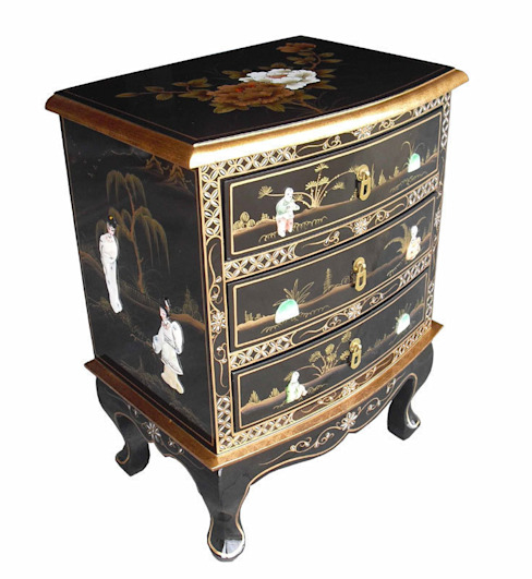 Chinese Lacquer Chest Asia Dragon Furniture from London Asyatik