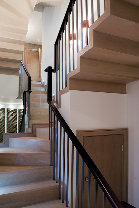Staircase Modern corridor, hallway & stairs by RBD Architecture & Interiors Modern