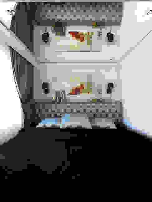Дизайн студия Александра Скирды ВЕРСАЛЬПРОЕКТ Eclectic style bedroom