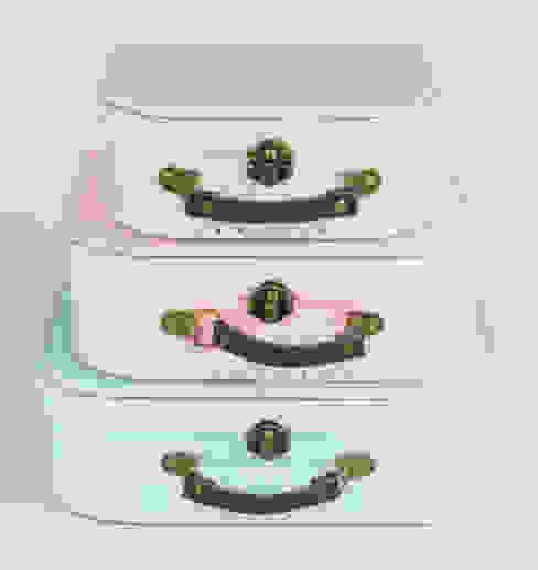 Set of 3 Pastel Retro Suitcases ihearthomes Rustik