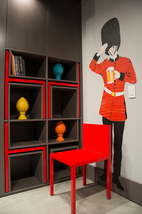 Loft jovem solteiro Salas de estar modernas por Leticia Sá Arquitetos Moderno
