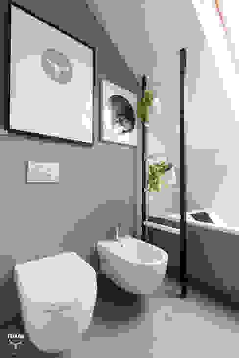 Łazienka prywatna Minimalistyczna łazienka od stabrawa.pl Minimalistyczny