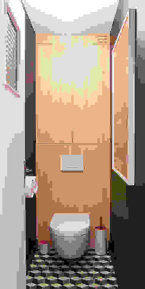 Toilettes Antoine Chatiliez Salle de bain moderne Noir