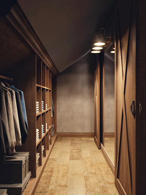 Closets de estilo rural de HOMEFORM Студия интерьеров Rural