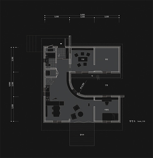 Ground floor plan thinkTREE Architects and Partners Phòng khách