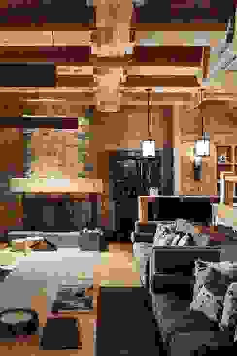 Rustic style living room by Архитектор Татьяна Стащук Rustic