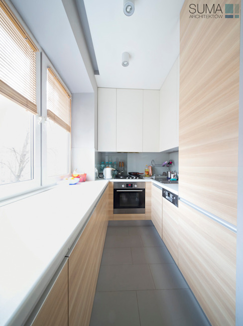 FAMILY_ONE: styl , w kategorii Kuchnia zaprojektowany przez SUMA Architektów,Nowoczesny