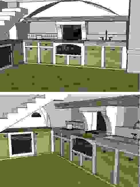 Schemi di progetto Cucina in stile mediterraneo di Creazionedatmosfere Mediterraneo