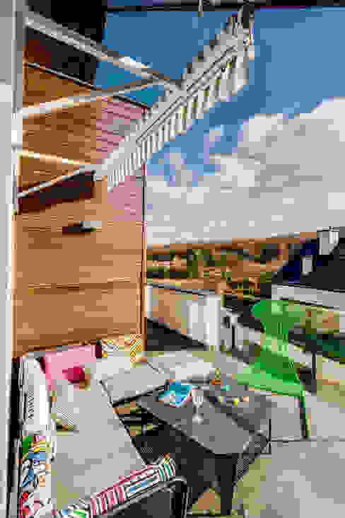 Apartment w Libertowie pod Krakowem: styl , w kategorii Taras zaprojektowany przez Biuro Projektowe Pióro,Minimalistyczny