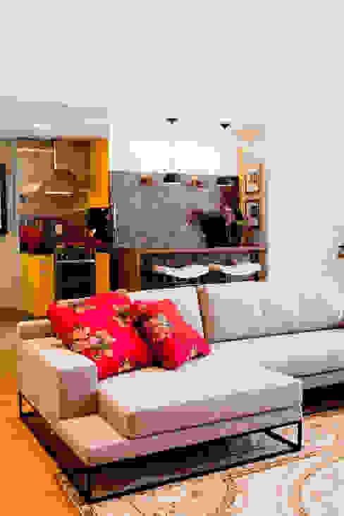 Apartamento Vila Nova Conceição Salas de estar modernas por Asenne Arquitetura Moderno
