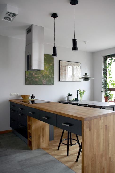 nad kanałkiem: styl , w kategorii Kuchnia zaprojektowany przez JJJASKOLA ARCHITEKCI,Skandynawski