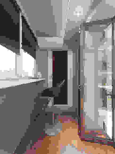 Дизайн-проект интерьера балкона. Балкон и терраса в стиле минимализм от ИнтеРИВ Минимализм