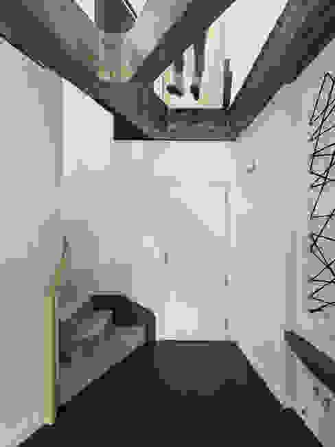 Reforma de apartamento en dos plantas, A Estrada, Pontevedra Pasillos, vestíbulos y escaleras de estilo minimalista de Ameneiros Rey | HH arquitectos Minimalista