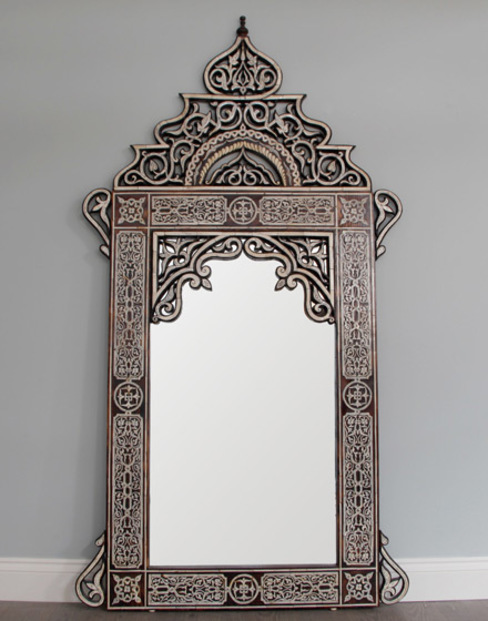 Moroccan Hand Crafted Bone Inlay - Arabic Style Moroccan Bazaar Dressing roomMirrors