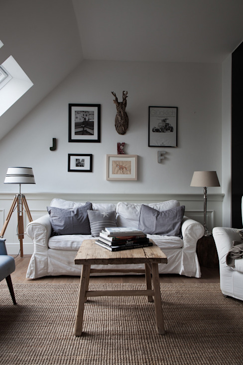 Scandinavian style living room by Studio Inaczej Scandinavian