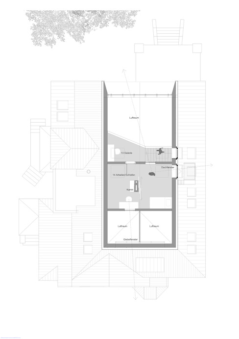 2. Dachgeschossebene von rundzwei Architekten