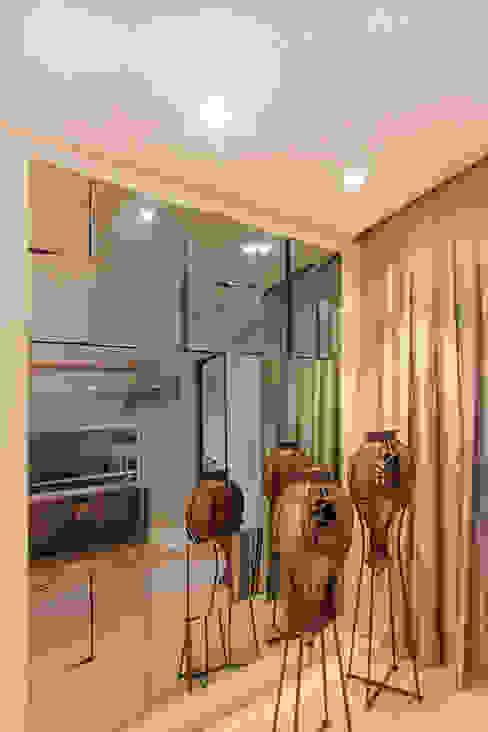 projeto |FT| Salas de estar modernas por Camila Bruzamolin - arquitetura Moderno